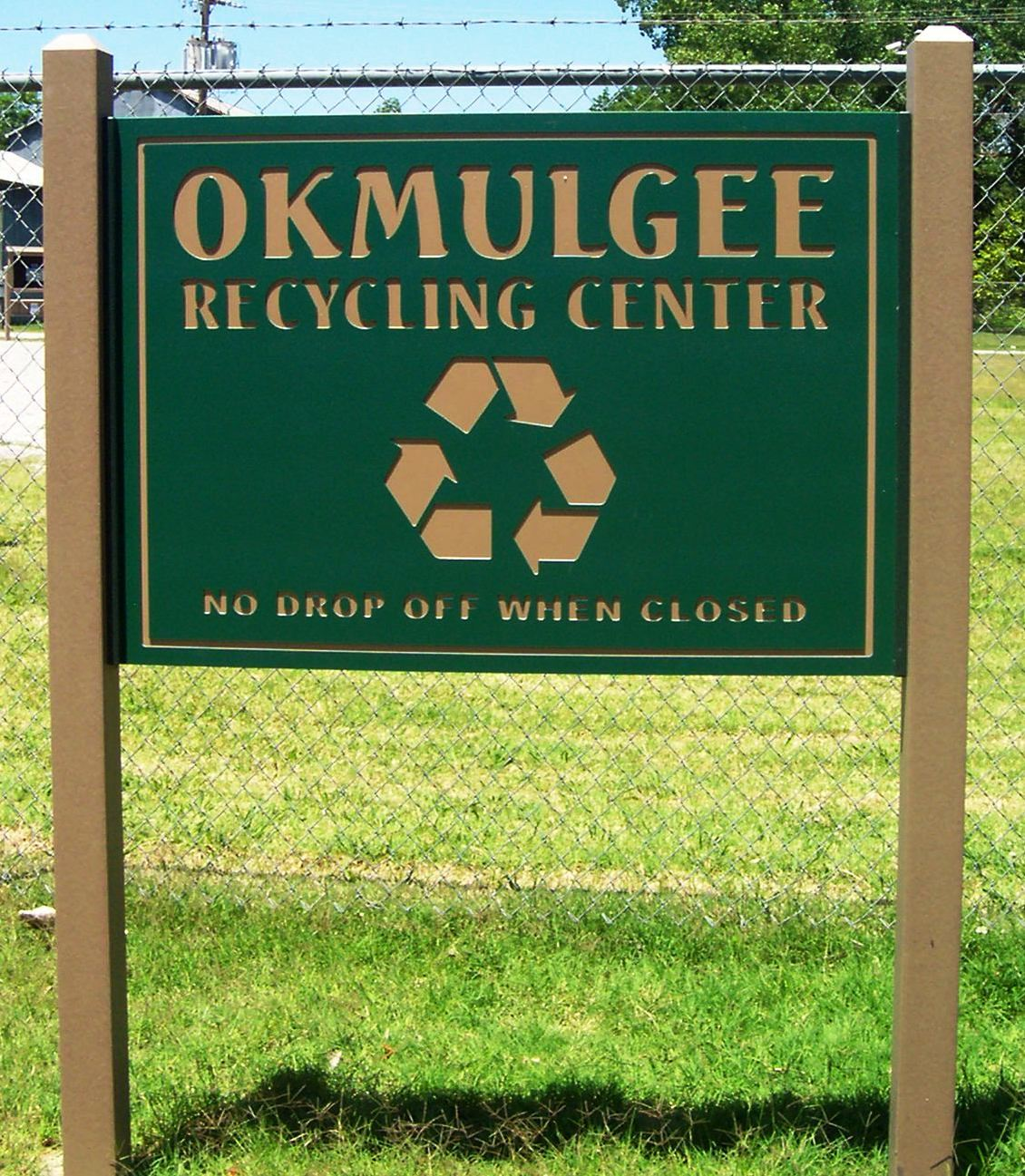 Recycling Center Sign